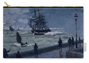 The Jetty At Le Havre In Bad Weather Carry-all Pouch