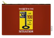The Key To The Situation - Ww1 Carry-all Pouch