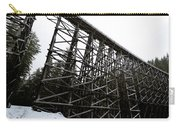 The Kinsol Trestle Panorama View On Snowy Day 1. Carry-all Pouch