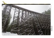 The  Koksilah River Trestle With Snow 1. Carry-all Pouch
