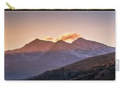 The Last Light Of The Day Over Snowdon. Carry-all Pouch