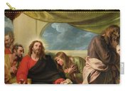 The Last Supper Carry-all Pouch by Benjamin West