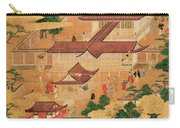 The Life And Pastimes Of The Japanese Court - Tosa School - Edo Period Carry-all Pouch