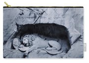 The Lion Of Lucerne Carry-all Pouch