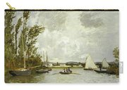 The Little Branch Of The Seine At Argenteuil Carry-all Pouch by Claude Monet