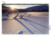 The Long Shadows Of Winter Carry-all Pouch