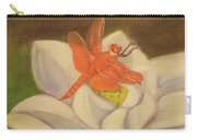 The Lotus And The Dragonfly Carry-all Pouch