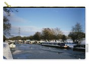 The Macclesfield Canal At Poynton In Winter And Frozen  Cheshire England Carry-all Pouch