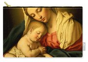 The Madonna And Child Carry-all Pouch by Il Sassoferrato