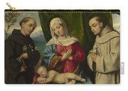 The Madonna And Child With Saints Carry-all Pouch
