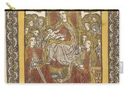 The Madonna Enthroned With Eighteen Holy Women Carry-all Pouch