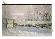 The Magpie Carry-all Pouch by Claude Monet