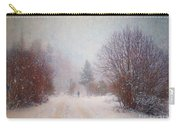 The Man In The Snowstorm Carry-all Pouch by Tara Turner