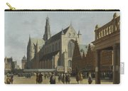 The Market Place And The Grote Kerk At Haarlem Carry-all Pouch