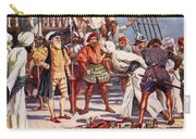 The Merchants Of Calicut, India, Held Carry-all Pouch