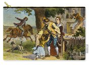The Midnight Ride Of Paul Revere 1775 Carry-all Pouch by Photo Researchers