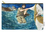 The Miracles Of Jesus Walking On Water  Carry-all Pouch