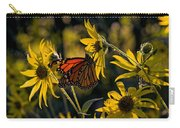 The Monarch And The Sunflower Carry-all Pouch