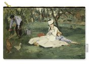 The Monet Family In Their Garden At Argenteuil Carry-all Pouch