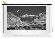 The Moon And The Mountain Range Poster Carry-all Pouch