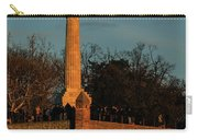 The Moon Rising Behind The Victor Statue In Belgrade In The Golden Hour Carry-all Pouch