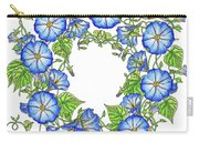 The Morning Glory Circle Watercolor Carry-all Pouch