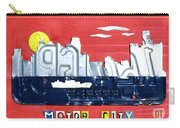 The Motor City - Detroit Michigan Skyline License Plate Art By Design Turnpike Carry-all Pouch