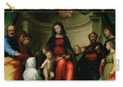 The Mystic Marriage Of St Catherine Of Siena With Saints Carry-all Pouch