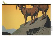 The National Parks Preserve Wild Life Vintage Travel Poster Carry-all Pouch