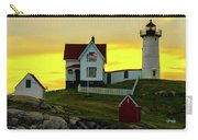 The Nubble Cape Neddick Lighthouse In Maine At Dawn Carry-all Pouch