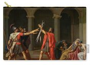 The Oath Of Horatii Carry-all Pouch by Jacques Louis David