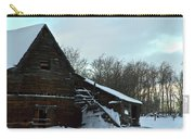 The Old Barn Winter Scene  Carry-all Pouch