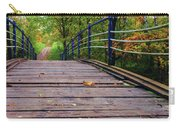 the old bridge over the river invites for a leisurely stroll in the autumn Park Carry-all Pouch