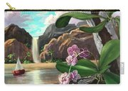 The Orchids And The Sailboat Carry-all Pouch