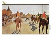 The Parade, Digitally Enhanced Highest Resolution,race Horses In Front Of The Tribune, Edgar Degas Carry-all Pouch