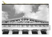The Parthenon In Nashville Tennessee Black And White 2 Carry-all Pouch