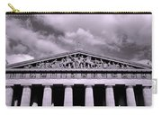 The Parthenon In Nashville Tennessee Black And White Carry-all Pouch