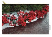 The Path To Christmas - Poinsettias, Trees, Snow, And Walkway Carry-all Pouch