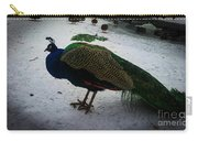 The Peacock In The Royal Garden In Winter Carry-all Pouch