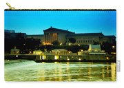 The Philadelphia Art Museum And Waterworks At Night Carry-all Pouch