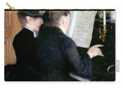 The Piano Lesson Carry-all Pouch by Gustave Caillebotte