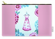 The Pink Floral Dress Carry-all Pouch