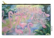 The Pink Pond Of Flamingos Carry-all Pouch