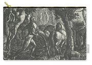 The Ploughman Christian Ploughing The Last Furrow Of Life Carry-all Pouch