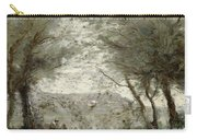 The Pond Carry-all Pouch by Jean Baptiste Corot