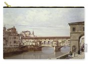 The Pontevecchio - Florence  Carry-all Pouch by Antonietta Brandeis