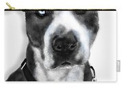 The Pooch With Blue Eyes Carry-all Pouch