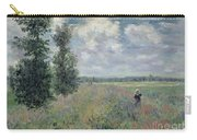 The Poppy Field Carry-all Pouch by Claude Monet