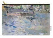 The Port At Nice Carry-all Pouch by Berthe Morisot