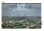 The Port Of Bordeaux Carry-all Pouch by Eugene Louis Boudin